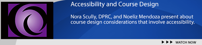 Accessibilty Presentation Banner