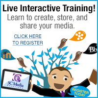 Live interactive training! Learn to create, store, and share your media. Click here to register.