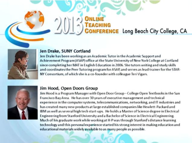 OTC13: Sharing Online Student Services in New York and California