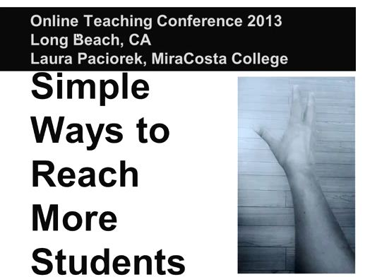 OTC13: Simple Ways to Reach More Students