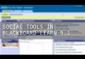 New Social Tools in Blackboard Service Pack 10