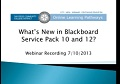 What's New in Blackboard Service Pack 10 and 12?