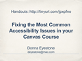 Fixing the Most Common Accessibility Issues in your Canvas Course