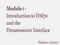 Module 1 - Introductions and Dreamweaver Inte...