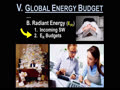 V. THE GLOBAL ENERGY BUDGET - 6