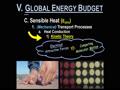 V. THE GLOBAL ENERGY BUDGET - 9