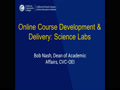 Online Course Development & Delivery: Sci...