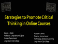 Strategies to Promote Critical Thinking in Online Courses