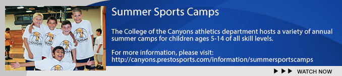 COC coaches run a number of youth sports camps. Check out more information at: http://canyons.prestosports.com/information/summersportscamps