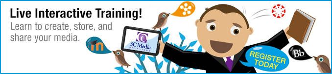 Live Interactive Training! | Learn to create, store, and share your media.