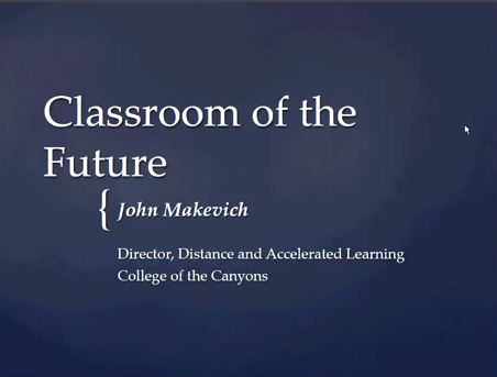 OTC13: Classroom of the Future