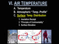 VI. AIR TEMPERATURE - 10