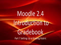 Moodle Grading with Rubrics