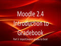 Moodle Gradebook Import/export grades for manual grading