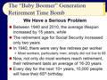 Chapter 14 - Slides 23-36 ‑ The Baby Boomer Generation Retirement Time Bomb!